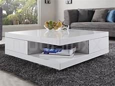 table blanc laqué table basse laqua blanc carr e en bois laqu hauteur 38 cm