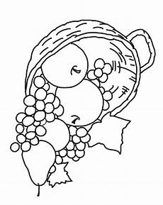 Ausmalbilder Obst Herbst Thanksgiving Coloring Pages