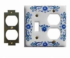 vintage switch plate white delft porcelain toggle outlet 23419 shop gt http rensup