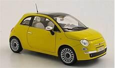 fiat 500 c miniature lounge jaune 2007 norev 1 18