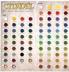 rumours new citadel paint range colour chart tale of