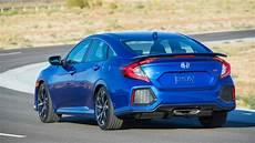 2019 Honda Civic Si Sedan Rear Three Quarter View Motortrend