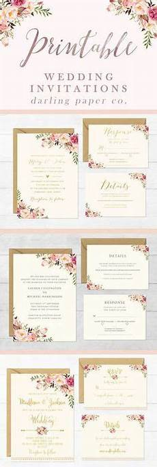 free wedding invitation templates customize and download these floral designs to create your