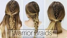 3 easy warrior braids dirty hair styles youtube