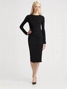 lyst michael kors matte jersey wrap dress in black