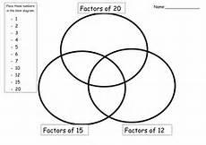 ks2 maths factors and multiples venn diagrams teaching resources