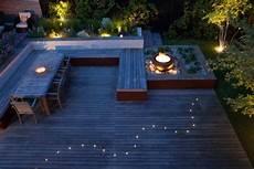 terrasse bois avec spot mailleraye fr jardin