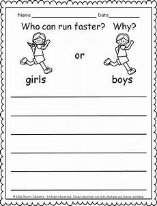 writing activity worksheets for grade 1 22845 kindergarten literacy and math freebie persuasive writing kindergarten writing prompts