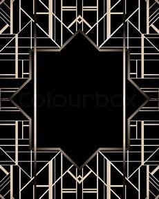 20er Jahre Tapete - vintage background retro style frame stock vector