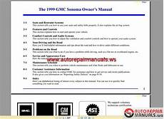 how to download repair manuals 2002 gmc sonoma instrument cluster gmc truck sonoma 1999 owner s manual auto repair manual forum heavy equipment forums