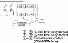 pm4h sd sdm star delta timers wiring connection panasonic industrial devices