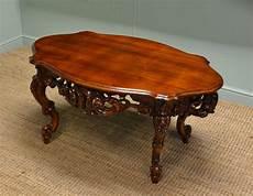 decorative mahogany antique coffee table