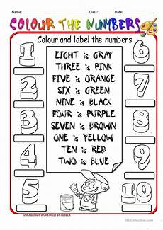 colours and numbers worksheets 18745 colour the numbers worksheet free esl printable worksheets made by teachers