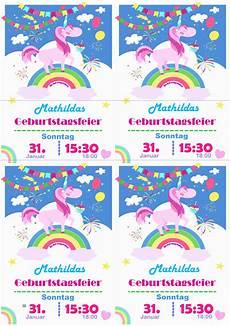 Einhorn Ausmalbild Einladung Einhorn Einladung Kindergeburtstag Planen De