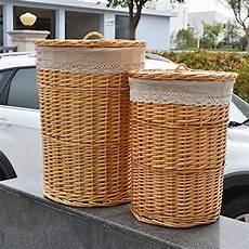 vimini rivestimento rurality cesto portabiancheria in vimini con coperchio