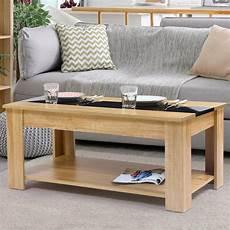 table basse contemporaine bois fa 231 on h 234 tre et noir