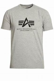 alpha industries basic grey t shirt buy alpha industries