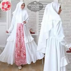 Model Gamis Perpaduan Dua Warna Nafisa