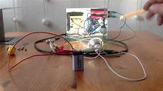 joule thief stromdieb mit 9 volt batterie 220 volt