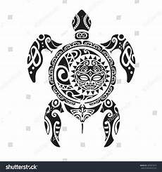 Maorie Schildkröte - turtle maori style vector illustration stock vector