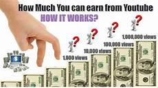 how much you earn with 1 000 10 000 100 000 and 1 million views in youtube youtube