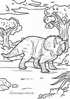 Gratis Ausmalbilder Zum Ausdrucken Dinosaurier Malvorlage Triceratops Malvorlagen Ausmalbilder Kinder