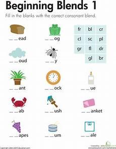 beginning blends 1 english first grade phonics spelling worksheets 1st grade worksheets