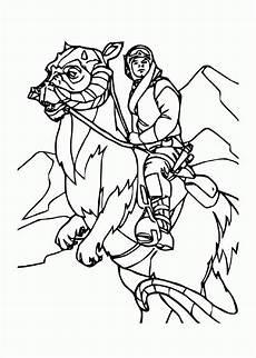 ausmalbild prinzessin leia kinder zeichnen und ausmalen