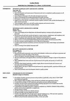 resume of quality asurance auditor quality assurance auditor resume sles velvet