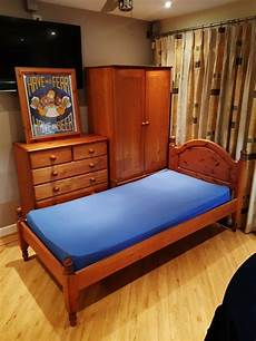 pine bedroom furniture single with drawers chest of drawers single bed and ottoman