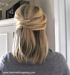 elegant half up hairstyle how to from the small things blog hair