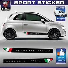 fiat 500 sticker decal scuderia italia abarth tuning