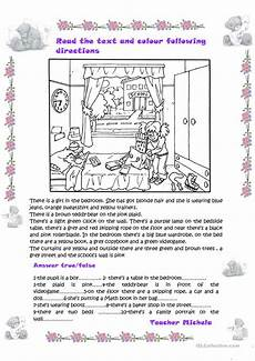 following directions worksheets free printable 11690 read the text and colour following directions true false activity worksheet free esl printable