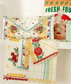 Kitchen Linens And Decor by For For Mothers Day Yellows Turquoise Vintage Look