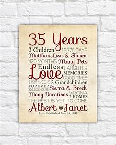 35th Wedding Anniversary Gift For Parents