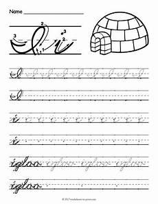 letter d cursive handwriting worksheets 24199 free printable cursive i worksheet cursive writing worksheets cursive worksheets cursive