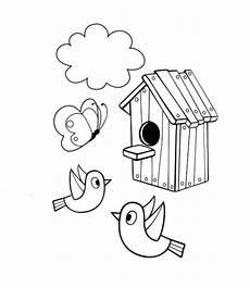 Malvorlagen Vogelhaus Gratis Malvorlagen Vogelhaus Ausmalbilder