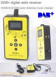 dab plus nachrüsten dab digital radio receiver dab plus tuner antenna usb power aux input changer