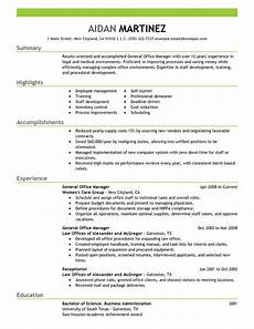general manager resume exles free to try today