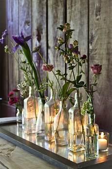 blumendeko hochzeit vintage hochzeitskerzen romantische warme licht archzine net