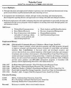 volunteer work resume template