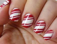 christmas inspired candy cane nail art holiday nail art