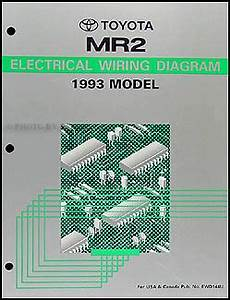 1993 toyota mr2 wiring diagram manual original