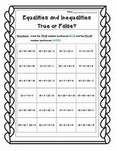 equality or inequality practice worksheet addition subtraction and mixed equality