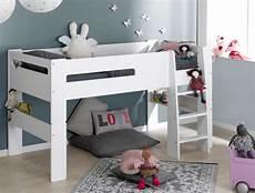 hauteur de lit lit mi hauteur enfant blanc 90 190 chambrekids
