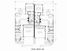 duplex house plans with garage plan 8041 upscale duplex with garages and private covered