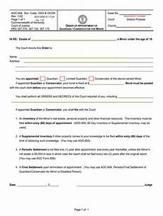 aoc forms ky kentucky aoc forms fill online printable fillable