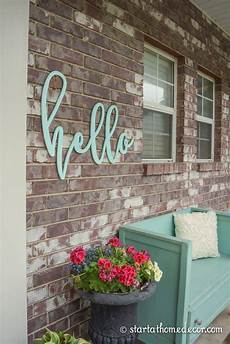 hello home decor we this hello welcome sign to add a pop of colour on