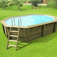 produit piscine hors sol piscine hors sol bois athena diam 6 1 l 6 1 x l 4 x h 1 2