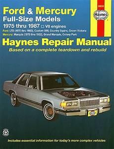 car service manuals pdf 1987 mercury grand marquis navigation system crown victoria ltd marquis repair manual 1975 1987 haynes